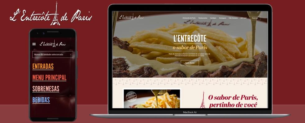 L'Entrecôte de Paris lança seu novo website desenvolvido pela Phixies